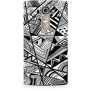 CopyCatz Black and White Abstrct Premium Printed Case For LG G4