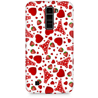 CopyCatz Panties and Strawberry Premium Printed Case For LG K7
