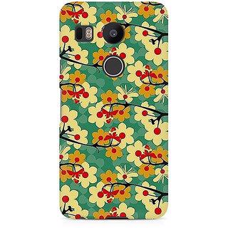 CopyCatz Flower Pattern Premium Printed Case For LG Nexus 5X