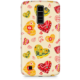 CopyCatz Love Abstract Premium Printed Case For LG K7