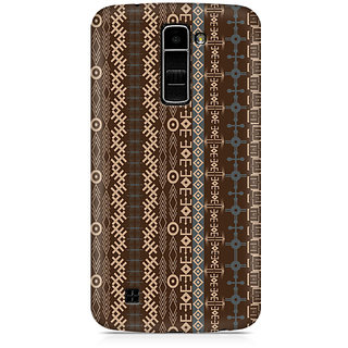 CopyCatz Brown Tribal Strips Premium Printed Case For LG K10