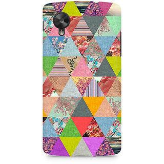 CopyCatz Colorful Triangles Premium Printed Case For LG Nexus 5