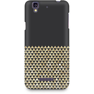 CopyCatz Golden Honeycomb Premium Printed Case For Micromax YU Yureka A05510