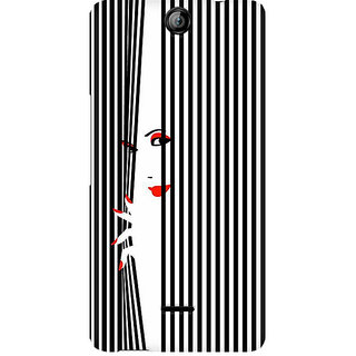 CopyCatz Peek Through Premium Printed Case For Micromax Canvas Juice 3 Q392