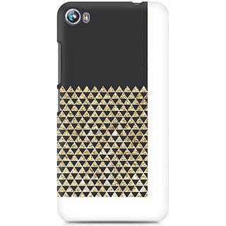 CopyCatz Golden Honeycomb Premium Printed Case For Micromax Canvas Fire 4 A107