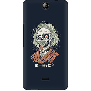 CopyCatz Skully Einstein Premium Printed Case For Micromax Canvas Juice 3 Q392