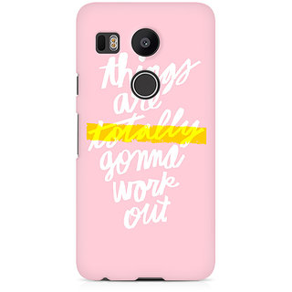 CopyCatz Things work out Premium Printed Case For LG Nexus 5X