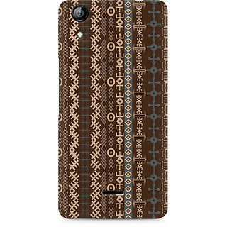 CopyCatz Brown Tribal Strips Premium Printed Case For Micromax Canvas Selfie 2 Q340