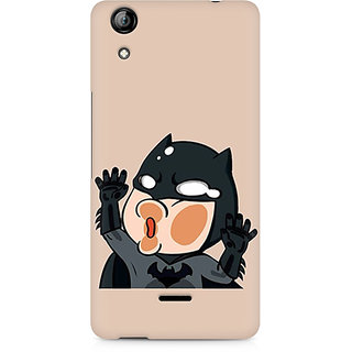 CopyCatz Batman Stuck on my Phone Premium Printed Case For Micromax Canvas Selfie 2 Q340