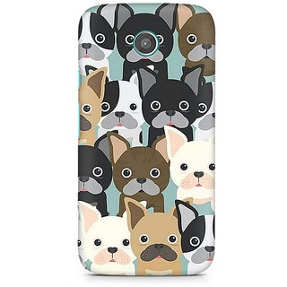 CopyCatz Dog Family Cluster Premium Printed Case For Moto E