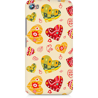 CopyCatz Love Abstract Premium Printed Case For Micromax Canvas Fire 4 A107