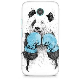 CopyCatz Panda Boxer Premium Printed Case For Moto E