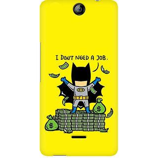 CopyCatz Batman Needs No Job Premium Printed Case For Micromax Canvas Juice 3 Q392