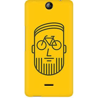 CopyCatz BikeFace Premium Printed Case For Micromax Canvas Juice 3 Q392