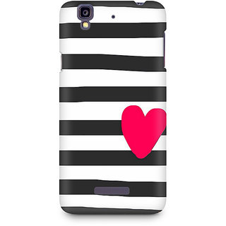 CopyCatz Cute Heart On Zebra Print Premium Printed Case For Micromax YU Yureka A05510