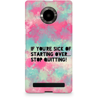 CopyCatz Stop Quitting Premium Printed Case For Micromax YU Yuphoria