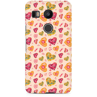 CopyCatz Cute Pink Hearts Premium Printed Case For LG Nexus 5X