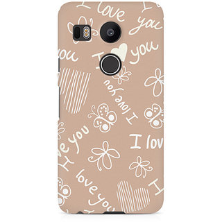 CopyCatz I Love You Premium Printed Case For LG Nexus 5X