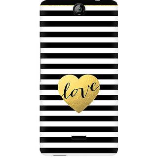 CopyCatz Black And White Gold Love Premium Printed Case For Micromax Canvas Juice 3 Q392