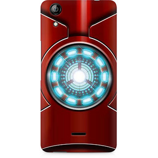 CopyCatz Iron Man's Heart Premium Printed Case For Micromax Canvas Selfie 2 Q340