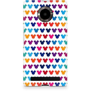 CopyCatz Mickie Mulitcolor on White Premium Printed Case For Micromax YU Yuphoria