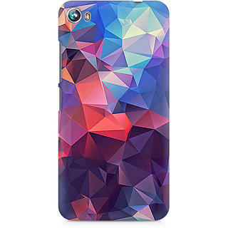 CopyCatz Abstract Fusion Triangle Premium Printed Case For Micromax Canvas Fire 4 A107