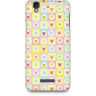 CopyCatz Cute Hearts in Squares Premium Printed Case For Micromax YU Yureka A05510