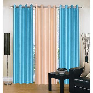 Anshul  Exclusive Maroon 2 Plain Cotton Holdback Door Curtain (HHCUR070248)