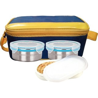 Gold Dust HMILB17 3 Containers Lunch Box (500 ml)