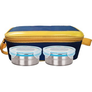 Gold Dust HMILB18 2 Containers Lunch Box (500 ml)