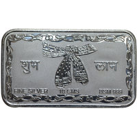 Kataria Jewellers Shubh Labh 10 Grams Silver Coin With Gift Box Gift In 999 Purity Hallmarked Silver