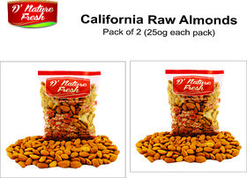 Almond Raw Pack Of 2 - Dried Fruits (250 gms each)
