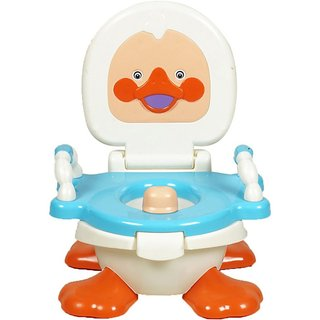 Gold Dust Panda Duck Baby Traning Potty Seat (White)