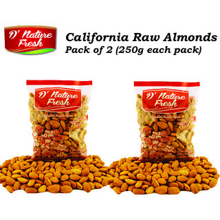 D'Nature Fresh California Raw Almonds (500 Gm)