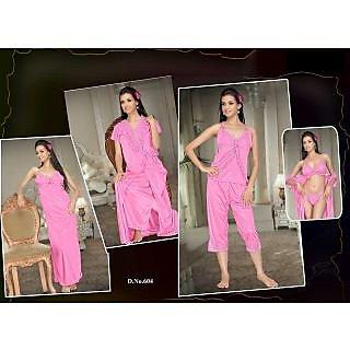 66084f26d9 Daily Sleepwear Set 6pc Bra Panty Top Capri Nighty Over Coat Hot Night Set  Gurlz 624