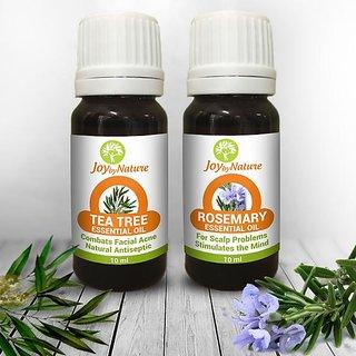 Joybynature Tea Tree And Rosemary Essential Oils Pack Of 2 (2 X 10Ml)