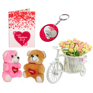 Buy Sky Trends Valentine Day Gifts Love Couple Teddy With Artificial