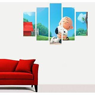 Impression Wall  The Peanuts Snoopy PVC Printed Wall Sticker