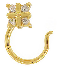 Precious Diamond studded 925 Sterling Silver Nose Pin by Allure