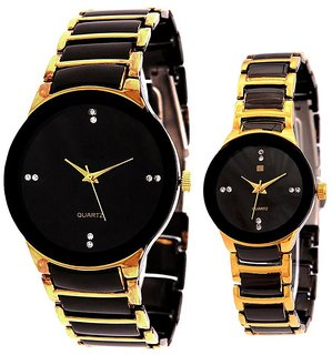 True Choice IIK Collection gold and black couple watch For All