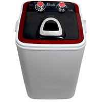 Lonik Portable Mini washing machine 4.6kg wash  2kg Dry Semi automatic- Red