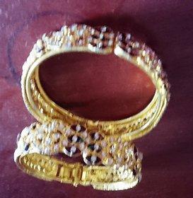 Gold Plated American Diamond Beatuiful Bangles.