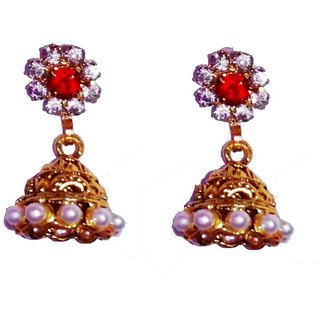 Fashionable Golden Jhumki for women  girls by shrungarika