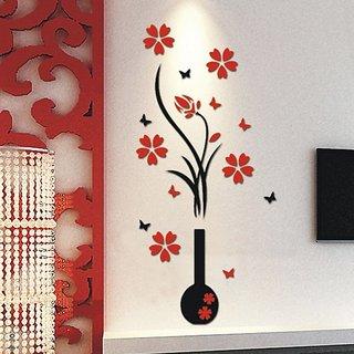 Flower Silhouette Wall Drawing Room, Bedroom, Kids Room Vinyl Sticker  Sticker 149