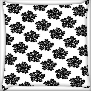 Snoogg Abstract Floral Star Digitally Printed Cushion Cover Pillow 20 x 20 Inch