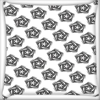 Snoogg Grey Diangle Digitally Printed Cushion Cover Pillow 20 x 20 Inch