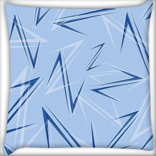 Snoogg Blue Z Digitally Printed Cushion Cover Pillow 20 x 20 Inch