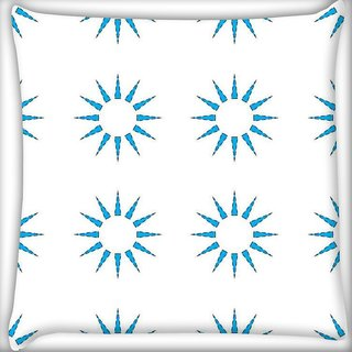 Snoogg Blue Sun Digitally Printed Cushion Cover Pillow 20 x 20 Inch