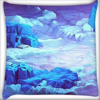 Snoogg Crystal earth Digitally Printed Cushion Cover Pillow 16 x 16 Inch