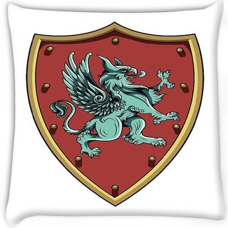 Snoogg  crests vector element Digitally Printed Cushion Cover Pillow 16 x 16 Inch